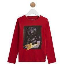 IN EXTENSO T-shirt manches longues garçon (Rouge bordeaux)