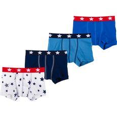 PETIT BATEAU Lot de 4 boxers garçon (Bleu)