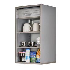Rangement de cuisine à rideau coloris aluminium L40 cm - COOKING (Aluminium)