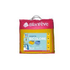 BLANREVE Couette bicolore légère 200 g/m² (Gris / Jaune)