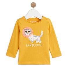 IN EXTENSO T-shirt manches longues bébé fille (Jaune)