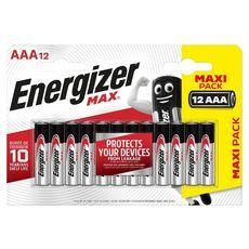 Energizer Piles LR03/AAA alcaline 1,5v x12 12 pièces