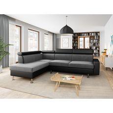 Canapé d'angle 4-5 places fixe avec LED - TOMY - Angle gauche