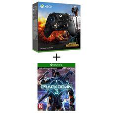 Manette Sans Fil Edition Spéciale PUBG Xbox One + Crackdown 3