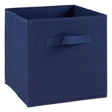 Tiroir boîte en tissu et carton BRIK, 12 coloris (Bleu)