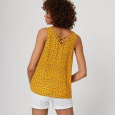 IN EXTENSO Top jaune motifs léopards femme (Jaune)