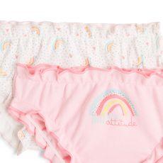 IN EXTENSO Lot de 2 culottes bébé fille (Rose clair )
