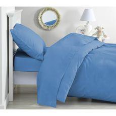 PTIT BASILE Lot de 2 taies d'oreiller bébé en coton bio 40 x 60 cm coloris unis  (Bleu Nordique)