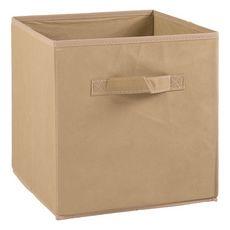 Tiroir boîte en tissu et carton BRIK, 12 coloris (Lin)
