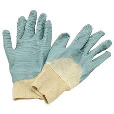 Gants de jardinage en coton et latex - Spécial rosier T.10