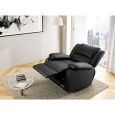 Fauteuil relax électrique avec  releveur pu coloris noir HELENA