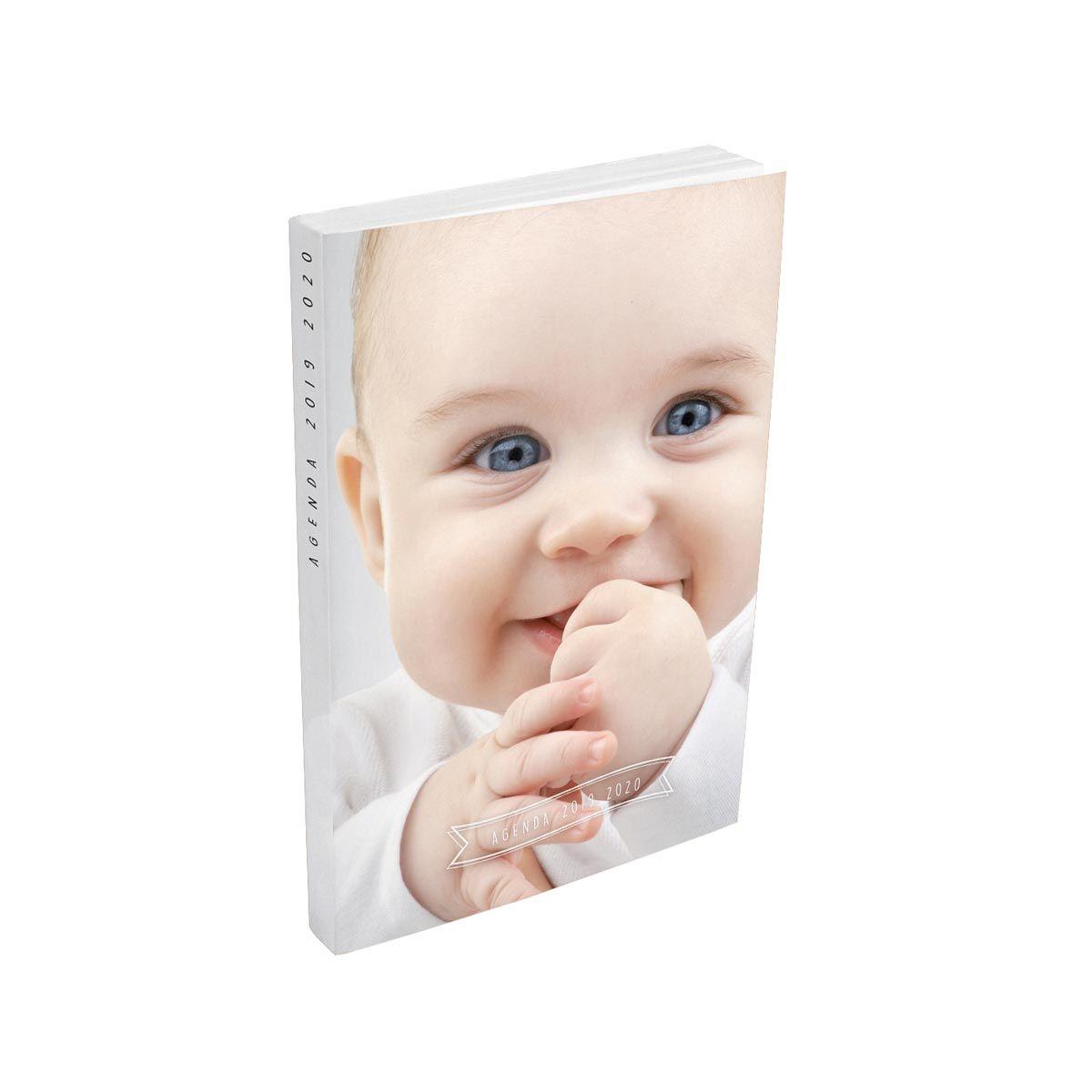 Agenda scolaire journalier fille 320 pages 12x17cm couverture cartonnée souple photo bébé 2019 2020