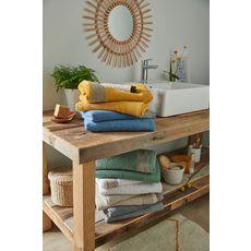 ACTUEL Lot 2 Gants de toilette fantaisies en coton 450gr/m² (Blanc)