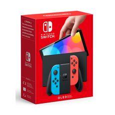 NINTENDO Console Nintendo Switch (modèle OLED) Joy-Con Bleu et Rouge