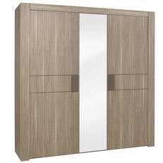 GAMI Armoire 3 portes battantes avec miroir L222cm ALLIANCE