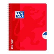 OXFORD Cahier à spirale 17x22cm 100 pages grands carreaux Seyes Open Flex rouge