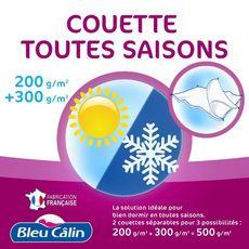 BLEUCALIN Couette 4 saisons 2 en 1