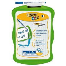 BIC  Ardoise blanche 20x31cm + 1 feutre + 1 effacette vert