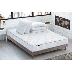 Ensemble literie  prêt à dormir Paul 160x200 cm : matelas + sommier + couette + oreillers