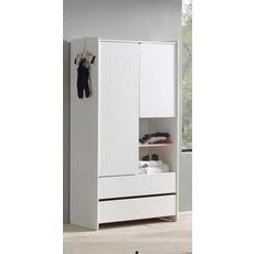 Armoire 2 portes 2 tiroirs L90cm KID