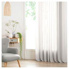 ATMOSPHERA Rideau Voilage uni oeillets métal en polyester 140x240cm ANA (Blanc)