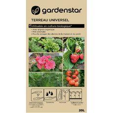 GARDENSTAR Terreau universel utilisable en culture biologique 20l