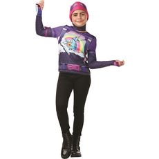 RUBIES Top + cagoule Bride Bomber taille 11/12 ans - Fortnite