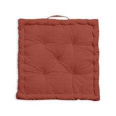 Coussin de sol uni en coton  (Rouge )