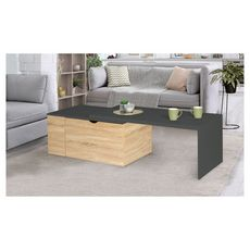 Table basse rotative 360° (Bois/gris)