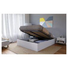 Lit coffre TORINO 160 x 200 cm + sommier TIVOLI (Blanc)