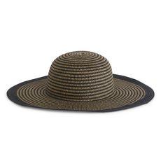 IN EXTENSO Chapeau de paille femme (Noir)
