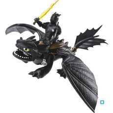 SPIN MASTER Pack Dragon et Viking Hiccup & Toothless noir - Dragons 3