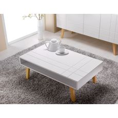 Table basse style scandinave PRETTY, L100cm