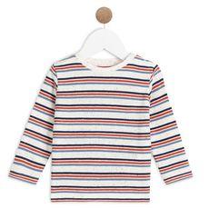IN EXTENSO T-shirt manches longues à rayures bébé garçon