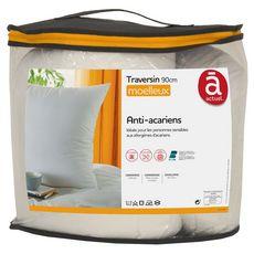 ACTUEL Traversin confort moelleux en microfibre anti-acariens