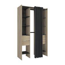 Kit placart 2 colonnes, 2 penderies, 4 tiroirs NADA
