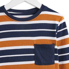 IN EXTENSO T-shirt manches longues à rayures garçon (Gris anthracite)