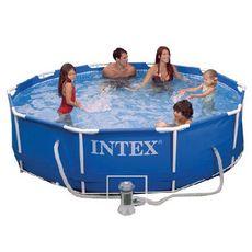 INTEX Piscine tubulaire ronde 3,05 x  0,76m - Metal Frame