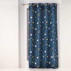 Douceur D'intérieur Rideau imprimé à œillets en polyester PETIT ASTRONAUTE
