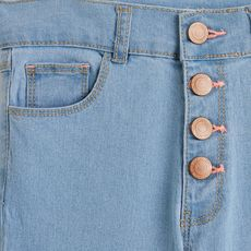 IN EXTENSO Jean droit taille haute fille (Bleached)