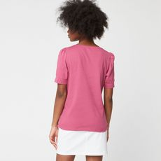 IN EXTENSO T-shirt manches courtes rose femme (Rose framboise)