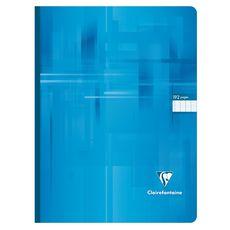 CLAIREFONTAINE Cahier broché 24x32cm 192 pages grands carreaux Seyes turquoise