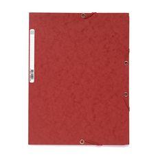 EXACOMPTA Chemise à élastique 24x32cm carton rouge