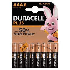 Duracell DURACELL Lot de 8 piles alcalines Plus Power type AAA LR03