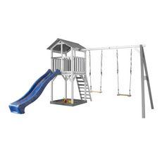 AXI Aire de jeux en bois et tobbogan bleu BEACH TOWER