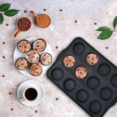 Moule 12 muffins en silicone et fibre de verre