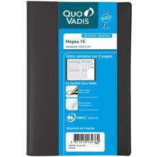 CLAIREFONTAINE Agenda annuel 10x15cm PVC - noir