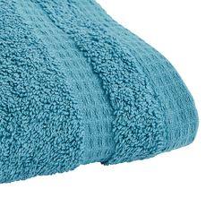 ACTUEL Serviette invitée unie en coton bio organique 540 gr/m2 (Bleu clair)