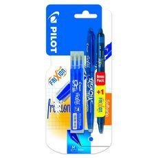 Stylo effaçable rechargeable Frixion ball bleu + 3 recharges bleues + 1 Frixion clicker bleu nuit