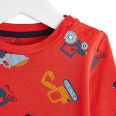 IN EXTENSO T-shirt manches longues bébé garçon (Rouge foncé)
